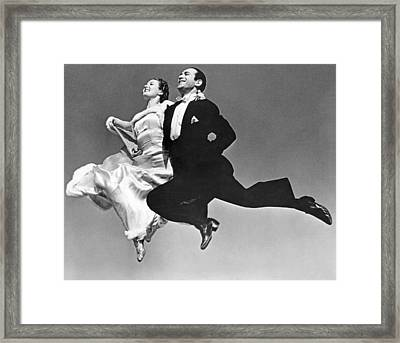 A Dance Team Does The Rhumba Framed Print by Underwood Archives
