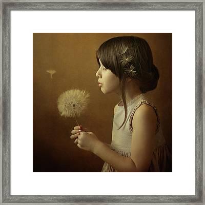A Dandelion Poem Framed Print by Svetlana Bekyarova