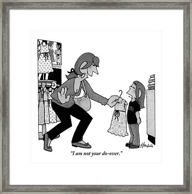 A Daughter Is Seen Speaking With Her Mother Who Framed Print by William Haefeli