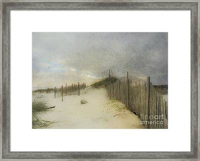 A Day At The Beach Framed Print by Betty LaRue