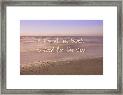 A Day At The Beach Framed Print by Kim Hojnacki