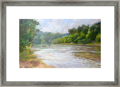 A Day At The River  Framed Print by Nancy Stutes