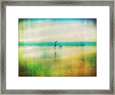 A Day By The Sea Framed Print by Suzy Norris