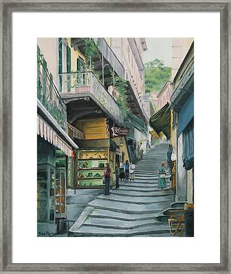 A Day In Como Framed Print by Sue Birkenshaw