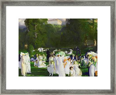 A Day In June Framed Print by George Wesley Bellows