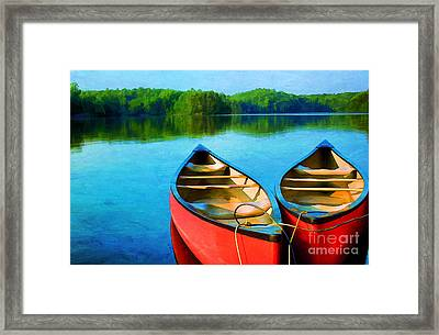 A Day On The Lake Framed Print by Darren Fisher