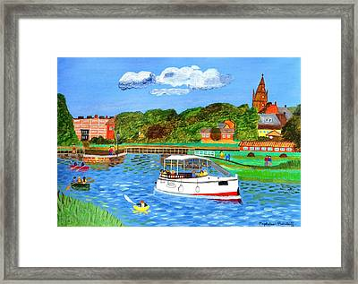 A Day On The River Framed Print by Magdalena Frohnsdorff