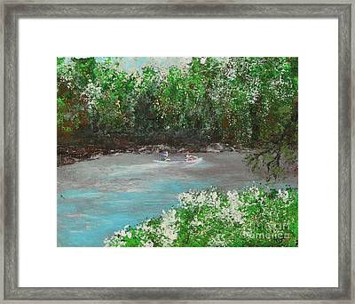 A Day On The White River Framed Print by Alys Caviness-Gober