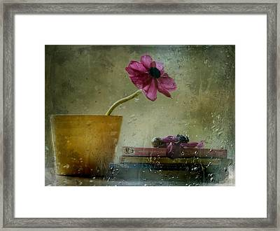 A Day To Stay At Home Framed Print by Delphine Devos