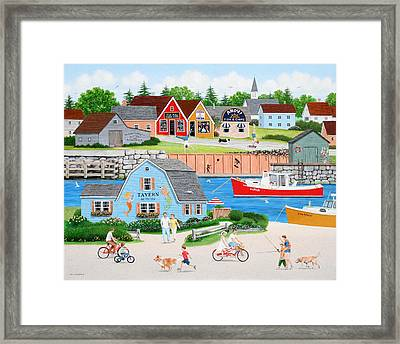 A Day With Dad Framed Print by Wilfrido Limvalencia
