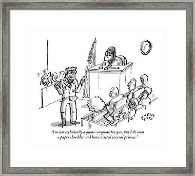 A Decrepit Man In Ragged Clothing Stands Framed Print by Farley Katz