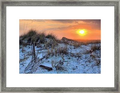 A Destin Sunset Framed Print by JC Findley
