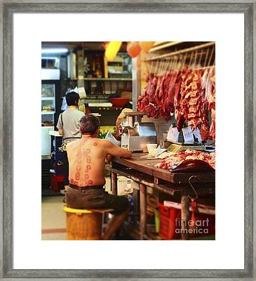 A Different Butcher Framed Print by LoveDutchArt By Ebs