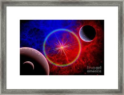 A Distant Alien Star System Framed Print by Mark Stevenson