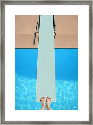 A Diving Board Framed Print by Don Hammond