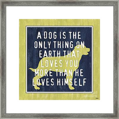 A Dog... Framed Print by Debbie DeWitt