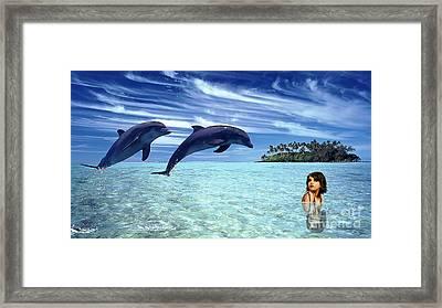 A Dolphins Tale Framed Print by Marvin Blaine