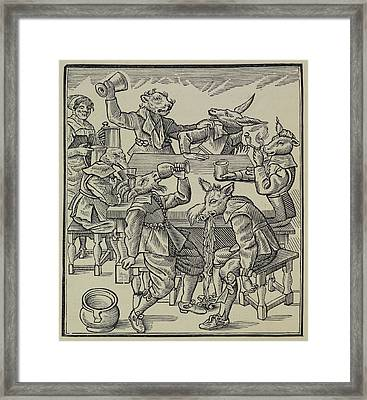 A Donkey Framed Print by British Library