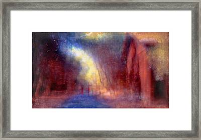 A Dream Flies By Waving Her Soft Fingers Framed Print by Suzy Norris