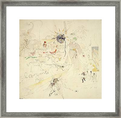 A Dream In Absinthe, 1890 Framed Print by Charles Edward Conder