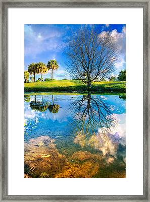 A Dreamy Day Framed Print by Debra and Dave Vanderlaan