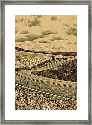 A Drive In The Country Framed Print by Bonnie Bruno