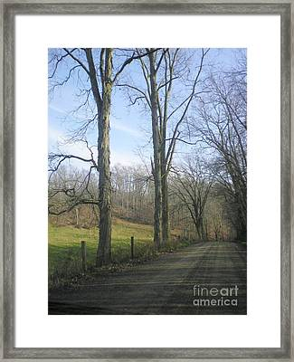 A Drive In The Country Framed Print by R A W M