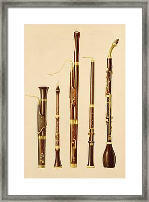 A Dulcian, An Oboe, A Bassoon Framed Print by Alfred James Hipkins