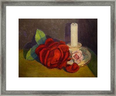 A Dying Rose Framed Print by Terry Perham