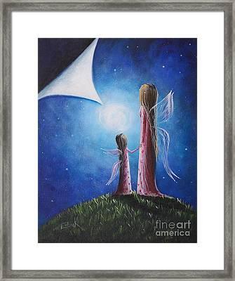 A Fairy's Child By Shawna Erback Framed Print by Shawna Erback