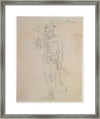 A Fakir Smoking Framed Print by British Library
