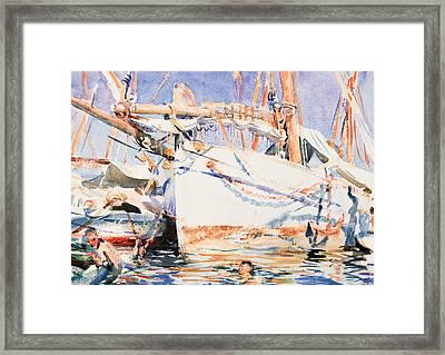 A Falucho Framed Print by John Singer Sargent