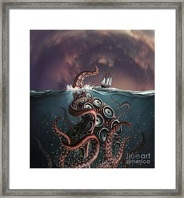 A Fantastical Depiction Framed Print by Jerry LoFaro