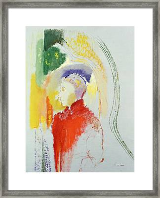 A Figure Framed Print by Odilon Redon