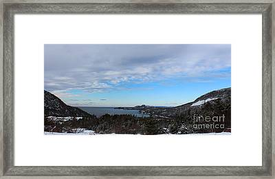 A Fine January Day On The Bay Framed Print by Barbara Griffin