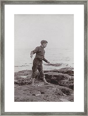 A Fisher Laddie Framed Print by James Patrck