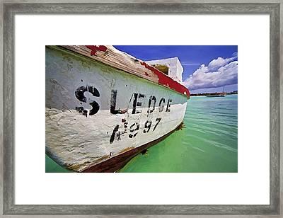 A Fishing Boat Named Sledge II Framed Print by David Letts
