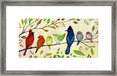 A Flock Of Many Colors Framed Print by Jennifer Lommers