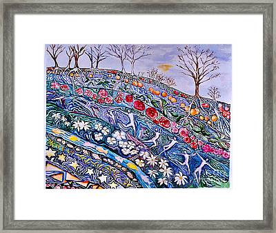 A Flourishing Beneath Framed Print by Nancy Wait