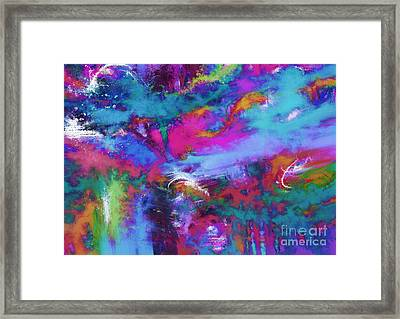 A Fluid Storm Framed Print by Keith Mills