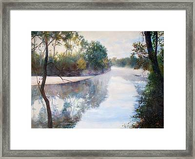 A Foggy Day Framed Print by Nancy Stutes