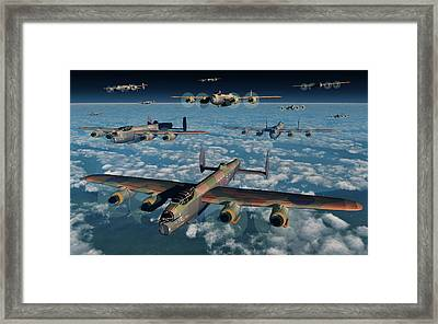 A Formation Of British Air Force Framed Print by Mark Stevenson