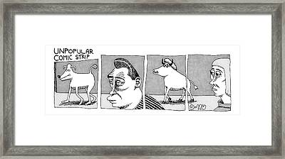 A Four-paneled Comic Strip With A  Person Facing Framed Print by J.C.  Duffy