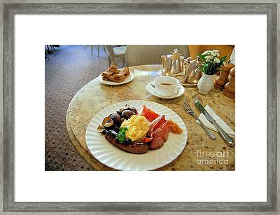 A Full English Breakfast In England Framed Print by Ross Sharp
