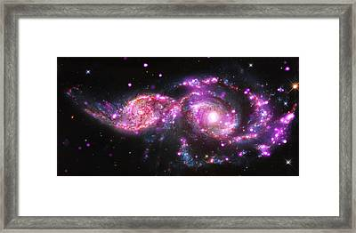 A Galactic Get-together Framed Print by Nasa