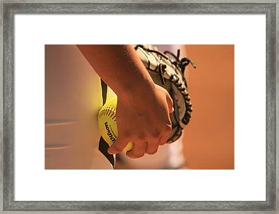 A Game Of Nuance Framed Print by Laddie Halupa