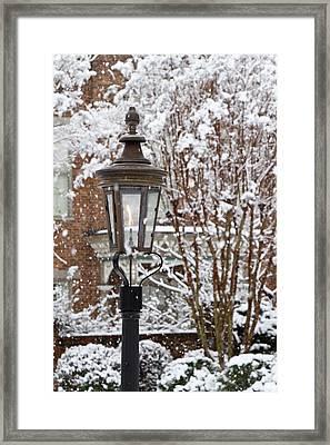 A Gas Lamp In Historic Twickenham Framed Print by William Sutton