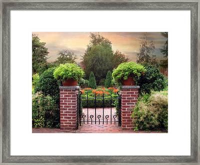 A Gated Garden Framed Print by Jessica Jenney