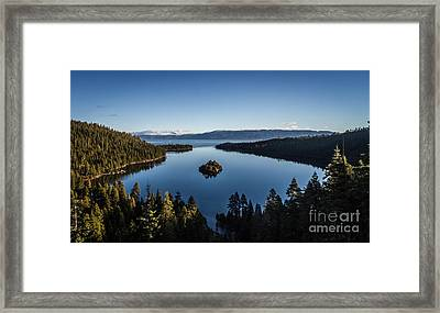 A Generic Photo Of Emerald Bay Framed Print by Mitch Shindelbower