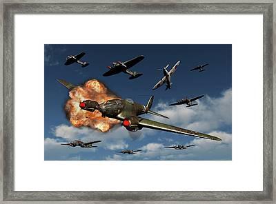 A German Heinkel He 111 Bomber Framed Print by Mark Stevenson